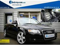 2007 07 Audi A4 Cabriolet 2.0 TDI S-Line 140 Multitronic with Black Leather