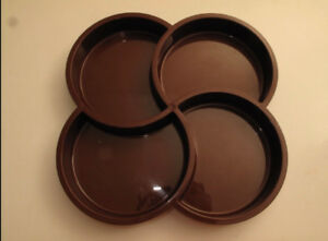 Dansk  Retro Brown 4 Chamber condiment tray-70s Era-Gunnar Cyren
