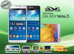 USED AND New Samsung galaxy Note 3 32GB 4G Network Sydney City Inner Sydney Preview