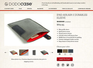 DODOcase for iPad Air 1 & 2 ~ Handcrafted ~ Canvas & Leather