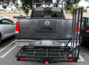 Hitch cargo carrier with ramp, brand new