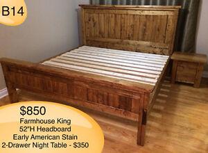 RUSTIC HANDMADE CUSTOM BEDS - TWIN/FULL/QUEEN/KING/BUNK