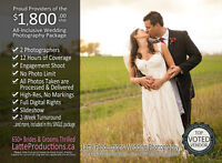 Wedding Photography: 12hrs,2 Photographers,Region's Most Enjoyed