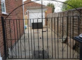 Drive way wrought iron gates & brackets
