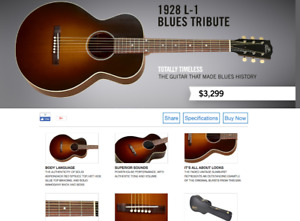Gibson L1 Blues Tribute 1928