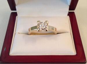 SAVE $7,600 0.958ct,VS2,J 18k YG Brand New Condition!!