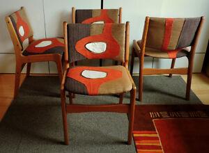 Mid Century Modern Danish Solid Teak Dining Table and 4 Chairs Edmonton Edmonton Area image 6