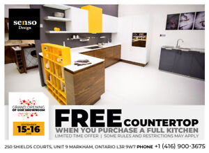 Senso Design: FREE Countertop with the purchase of a full kichen