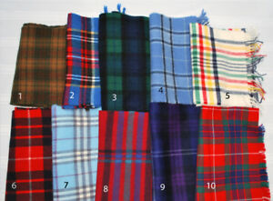 Pure Wool Tartan Scarves, many colours! $15 each