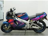 2000 W YAMAHA YZF 750 R IN STUNNING BLUE PEACOCK COLOUR SCHEME VERY LOW MILES
