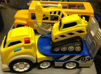 PLASTIC TOY TRUCKS / SCHOOL BUS