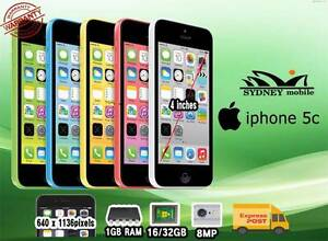 AS New IPhone 5C unlocked with warranty and free gift Sydney Region Preview