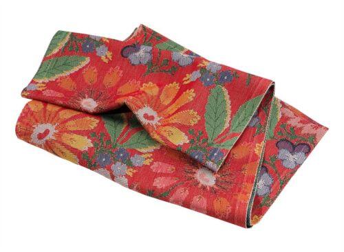 "Swedish Ekelund Folk Art Flower Table Runner Red Holiday Christmas 14"" x 47"""