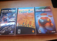3 PSP Games for 20$ (Star Wars Lethal Alliance,Patapon,HotBrain)