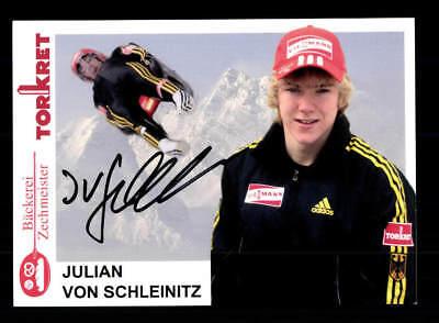 Julian von Schleinitz Autogrammkarte Original Signiert Rodeln + A 168198
