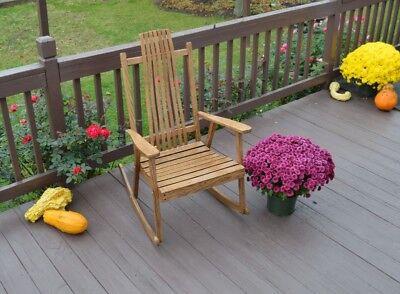 A&L Furniture Co. Amish-Made Bent Oak Outdoor Porch Rockers Amish Made Outdoor Furniture