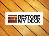 Deck Cleaning, Restoration, & Staining