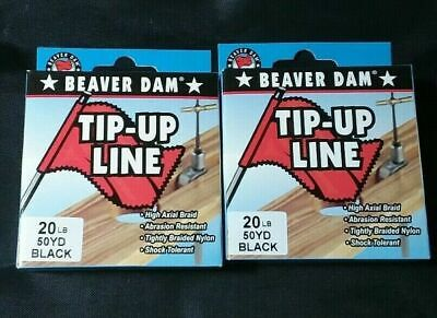* BEST DEAL * 2 Spools 20lbs Beaver Dam Black Braid Tip-up Line 50yds (Best Tip Up Line)