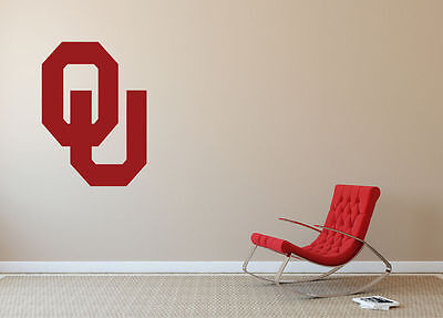 Oklahoma Sooners *MANY SIZES* Wall Art Football Wall Decal Car Home Decor SA97