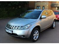 LHD LEFT HAND DRIVE NISSAN MURANO 3.5 V6 PETROL 2007 BLUE FULLY LOADED CREME LOW MILEAGE IMMACULTE