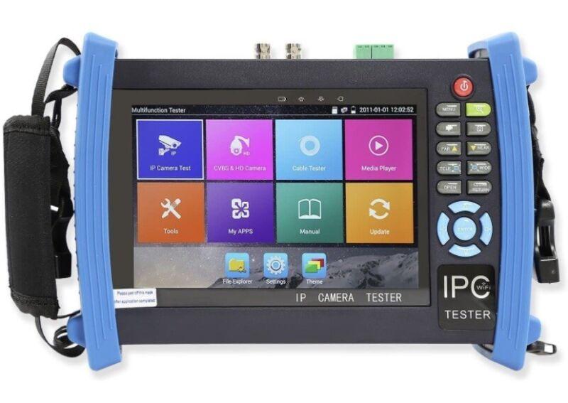 "IPC-8600 Plus 7""Touch Screen IP CCTV Camera Tester 4K 12MP H.265 WIFI PTZ HDMI"