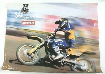 Affiche huile motul 2001 moto cross world champion mickael