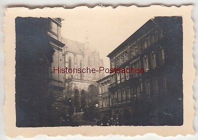 (F13526) Orig. Mini-Foto Altenburg Thür., Blick zum Schloss 1940er