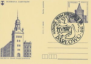 Poland postmark DARLOWO - civic rights ad. 1312 crest eagle - <span itemprop=availableAtOrFrom>Bystra Slaska, Polska</span> - Poland postmark DARLOWO - civic rights ad. 1312 crest eagle - Bystra Slaska, Polska