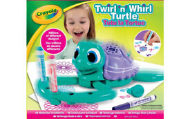 CRAYOLA TWIRL'N'WHIRL Twirl and Whirl TURTLE DRAWING DESIGN PATTERN BATTERY TOY