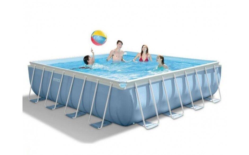 Intex Telaio piscina set prisma a quadri 427 x 427 x 107 cm 28764gn