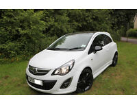 2013 VAUXHALL CORSA 1.2 LIMITED EDITION IN GLACIER WHITE AND BLACK, LOW MILEAGE, EXCELLENT CONDITION
