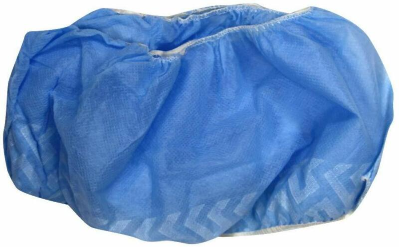 Trimaco SuperTuff Blue Non-Skid Poly Shoe Guards - Pack of 100 Pairs - Brand New