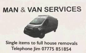 Man & van services..removals/house clearances