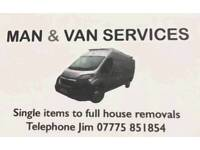 Man & van services..removals/house clearances