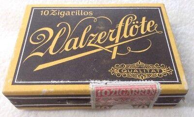 Alte Zigarrenschachtel Walzerflöte Qualität leer 10 Zigarillos 10 Zigarren