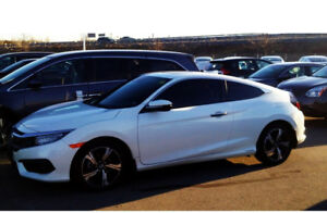 2016 HONDA CIVIC COUPE TOURING - CLEAN RECORD, WINTER TIRES