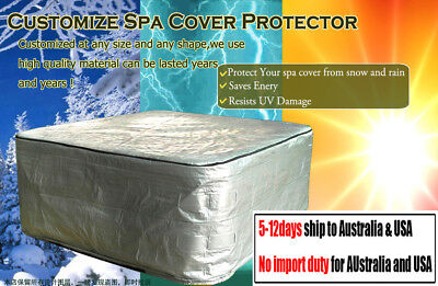 2 Meter x 2 Meter - Hot Tub Cover Protection Bag, Winter Weather Proof Spa Cover