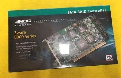 - 3Ware AMCC Storage 2-Port SATA RAID Controller 8000 Series 8006-2LP