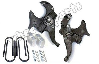 "S10 Drop Spindles & Blocks 2"" Front 3"" Rear 2/3 Lowering Suspension Level Kit"