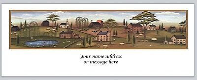 30 Personalized Return Address Labels Primitive Country Buy 3 Get 1 Free C 759