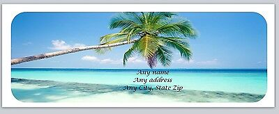 Personalized Address Labels Beach Palm Tree Buy 3 Get 1 Free C 783