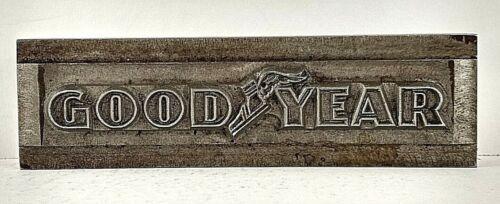 Goodyear 1954 Printers Watermark Metal Die Block