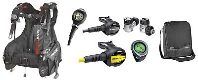 Mares Basic Set Starter Diving Equipment Regulator Set, Dive Computer, Jacket ()