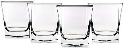 Red Series 10 oz. Square Double Old Fashioned Glass (Set of 4) Square Double Old Fashioned
