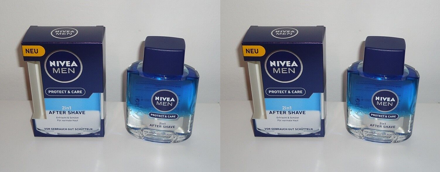 2x Nivea Men Protect & Care 2in1 After Shave , 2x100ml
