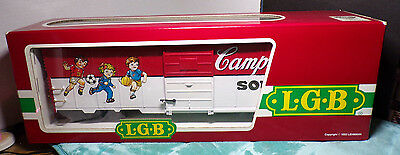 CAMPBELL'S KIDS SPORTS ~ SOUP ~ LGB ~ 4191CS ~ TRAIN ~ BOXCAR ~ 1991 ~ GERMANY