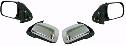 CHROME MANUAL DOOR MIRRORS  SUIT 05 TO 2011 HILUX , 1 SET ,NEW