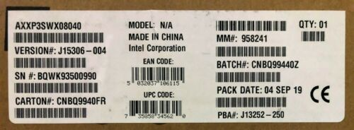 Intel AXXP3SWX08040 4-Port PCIe Gen3 x8 Switch AIC NEW BROWN BOX