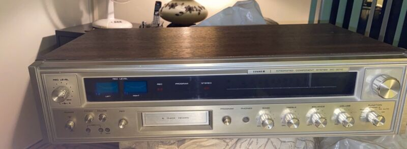 VINTAGE Fisher MC-3010 Receiver 8-track Player/Recorder. Excellent Condition .