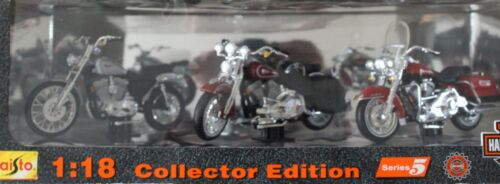 Maisto 3 Pack Series 5 Harley Davidson 1/18 Motorcycles ~ NEW IN BOX